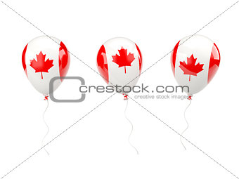 Air balloons with flag of canada
