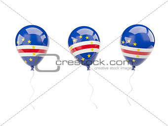 Air balloons with flag of cape verde