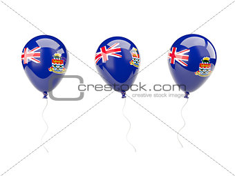 Air balloons with flag of cayman islands