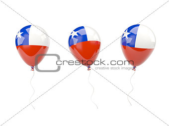 Air balloons with flag of chile