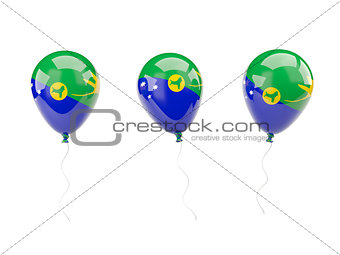 Air balloons with flag of christmas island
