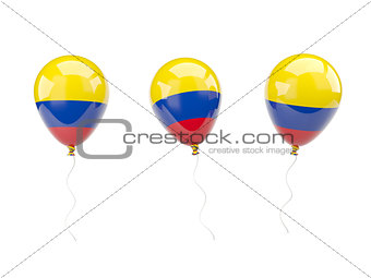 Air balloons with flag of colombia