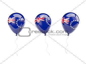 Air balloons with flag of cook islands