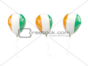Air balloons with flag of cote d'Ivoire