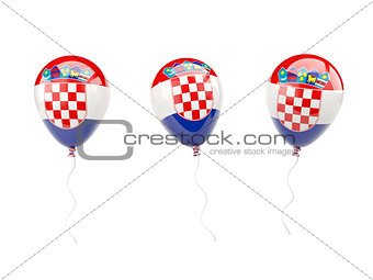 Air balloons with flag of croatia