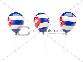 Air balloons with flag of cuba