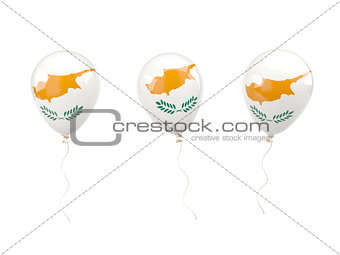 Air balloons with flag of cyprus