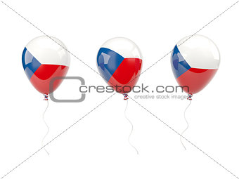 Air balloons with flag of czech republic