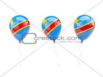 Air balloons with flag of democratic republic of the congo