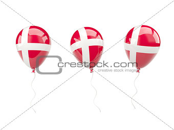 Air balloons with flag of denmark