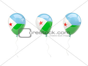 Air balloons with flag of djibouti