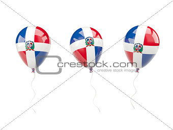 Air balloons with flag of dominican republic