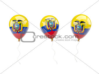 Air balloons with flag of ecuador