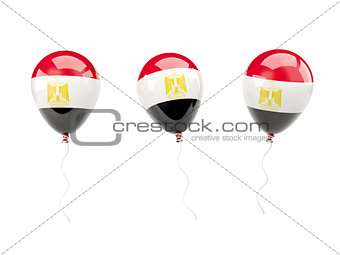 Air balloons with flag of egypt