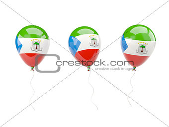 Air balloons with flag of equatorial guinea