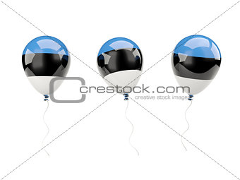 Air balloons with flag of estonia