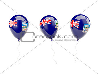 Air balloons with flag of falkland islands