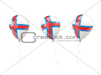 Air balloons with flag of faroe islands