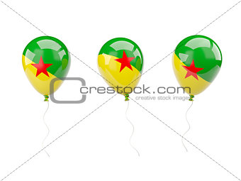 Air balloons with flag of french guiana