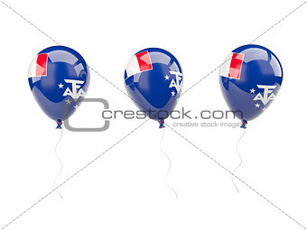 Air balloons with flag of french southern territories