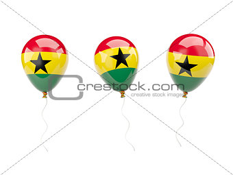 Air balloons with flag of ghana