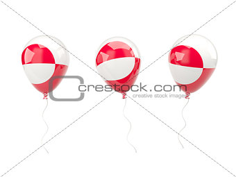 Air balloons with flag of greenland