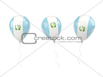 Air balloons with flag of guatemala