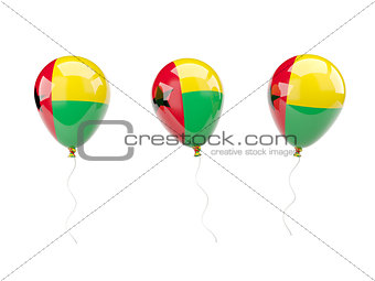 Air balloons with flag of guinea bissau