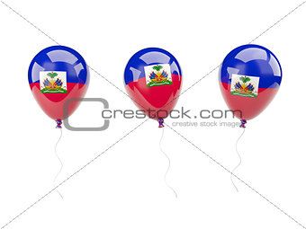 Air balloons with flag of haiti