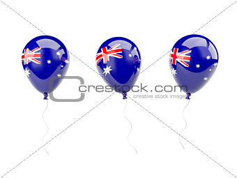 Air balloons with flag of mcdonald islands