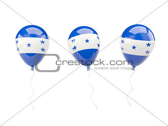 Air balloons with flag of honduras