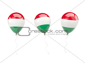 Air balloons with flag of hungary