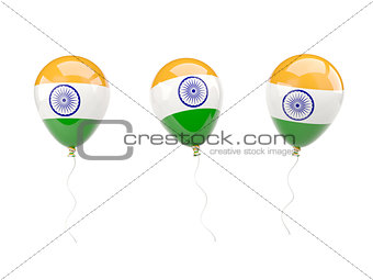 Air balloons with flag of india