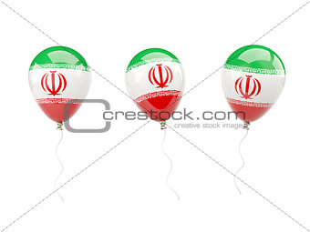 Air balloons with flag of iran