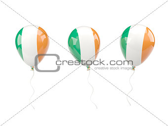 Air balloons with flag of ireland