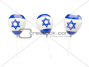 Air balloons with flag of israel