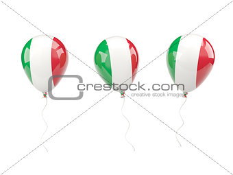 Air balloons with flag of italy