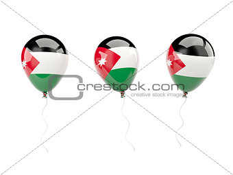 Air balloons with flag of jordan