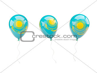 Air balloons with flag of kazakhstan