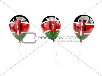 Air balloons with flag of kenya