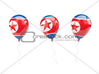 Air balloons with flag of north korea