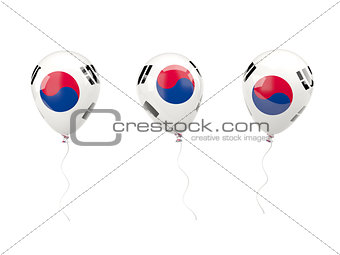 Air balloons with flag of south korea