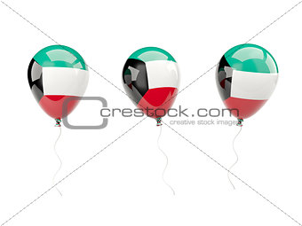 Air balloons with flag of kuwait
