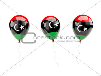 Air balloons with flag of libya