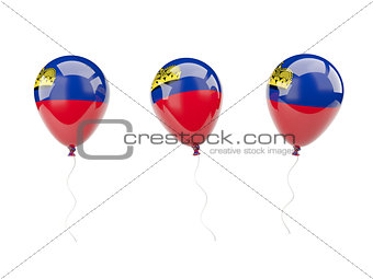 Air balloons with flag of liechtenstein