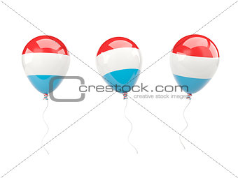 Air balloons with flag of luxembourg