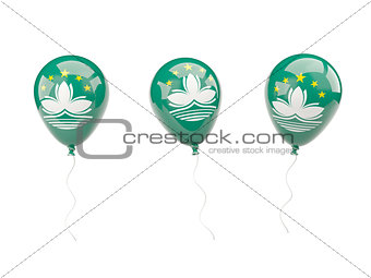 Air balloons with flag of macao