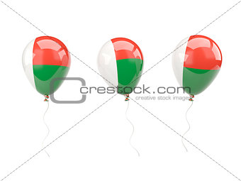 Air balloons with flag of madagascar