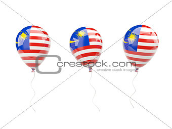 Air balloons with flag of malaysia
