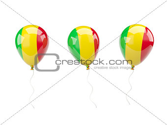 Air balloons with flag of mali